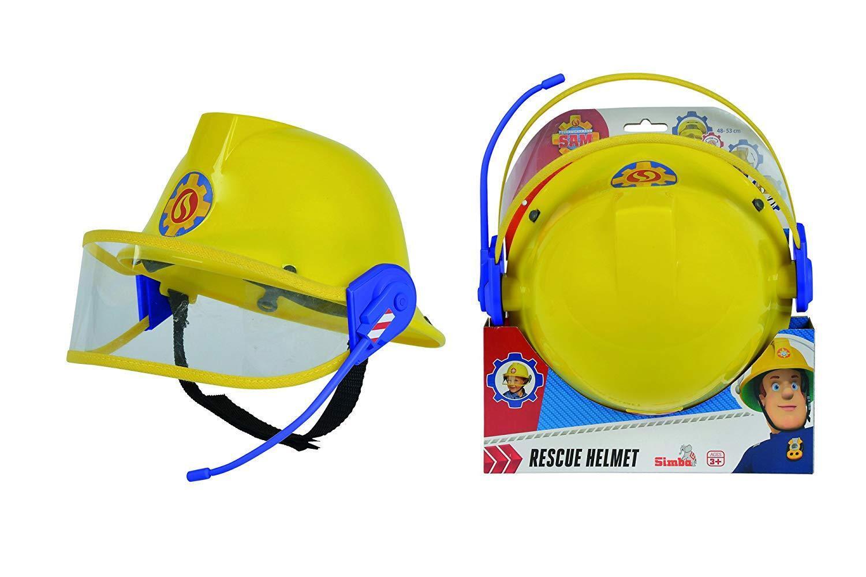 NEW Fireman Sam Rescue Yellow Helmet with Microphone 48-53cm Birthday Gift