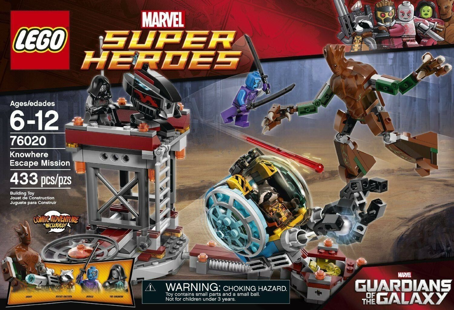 LEGO Marvel Guardians Of The Galaxy - Knowhere Escape Mission 76020 - New