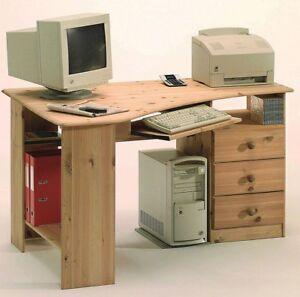 Massivholz Eck Schreibtisch Kiefer Massiv Gelaugt Geölt Pc Tisch
