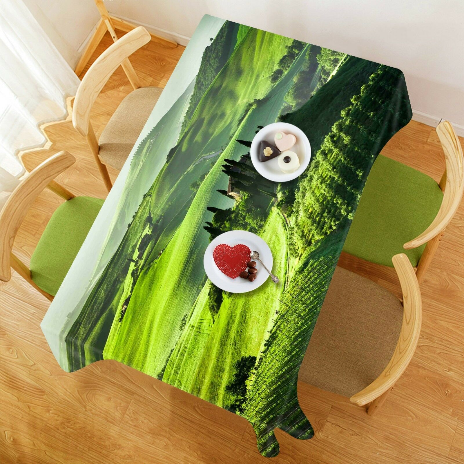 3D Lawn Mountain 05 Tablecloth Table Cover Cloth Birthday Party Event AJ Lemon