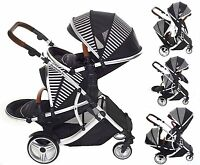 Kids Kargo Duellette 21 Bs Twin Double Pushchair Stroller Buggy With Tan Handle