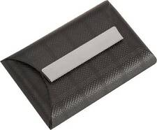 Black Envelope leather visting card business credit holder fancy Debit wallet