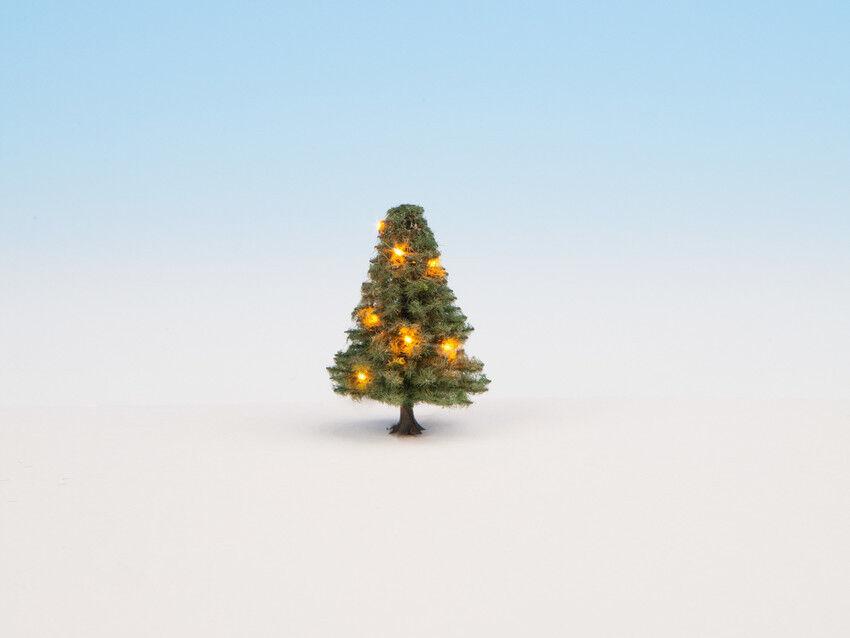 Noch weihnachten beleuchteten baum mit 10 leds 5cm hoch 22111 ho - skala