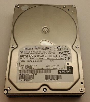 "Hitachi Deskstar 400GB SATA 7200rpm 3.5"" HDD Desktop PC hard drive part# 0A30229"