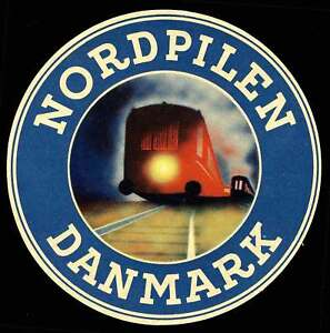 "Denmark - Railway Baggage Label - ""Nordpilen Danmark"" Danish-German Route"