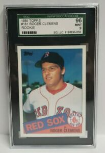 1985-Topps-181-Roger-Clemens-Boston-Red-Sox-RC-Rookie-SGC-96-MINT-9