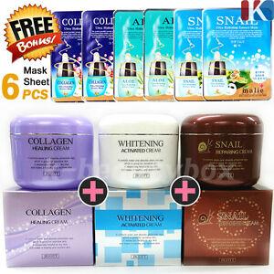 BEST-SKIN-CARE-Whitening-Cream-Snail-Cream-Collagen-Cream-Mask-Sheet-6pcs