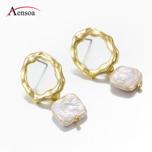 Femme Fashion Irrégulier Perle Cercle Statement Dangle Boucles d/'oreilles pendantes Fête Cadeaux