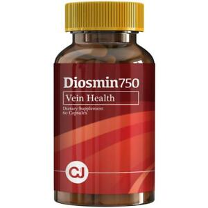 DIOSMIN-750mg-Circulation-and-Vein-Support-60-Capsules-Bottle-Pure-Diosmin