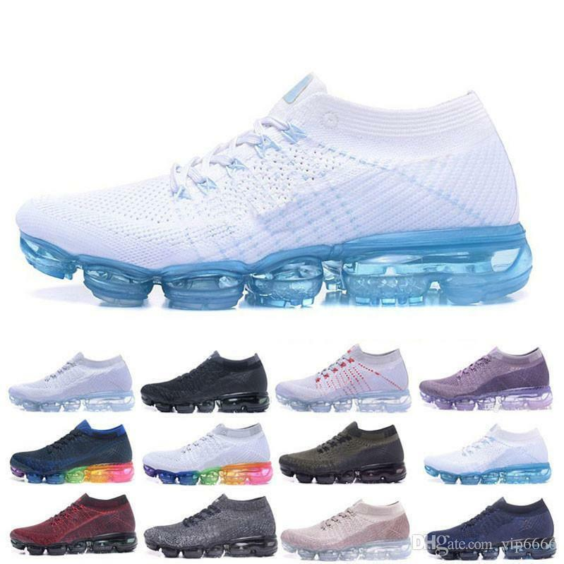 2018 Running scarpe Air Cushion Trainers Men donna Outdoor run scarpe nero bianca