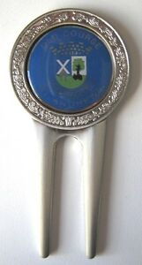 Edle-Metall-Pitchgabel-mit-Ballmarker-034-St-Andrews-034