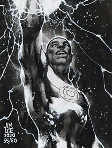 GREEN-LANTERN-JOHN-STEWART-DC-COMICS-Original-Art-Sketch-By-JIM-LEE-For-Charity