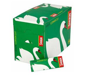 Swan-Standard-Size-Green-Corner-Cut-Cigarette-Rolling-Papers-50-Booklets