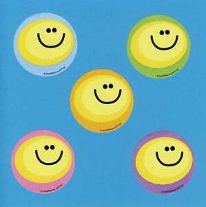 Large Stickers Party Favors 15 Yellow Happy Smile Face Rewards