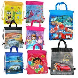 School-Drawstring-Bag-Sport-Gym-Dance-Various-Boxing-Sack-Swim-Kit-Shoe-Backpack