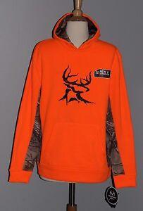 Bushmaster Blaze Orange Hoodie Hunting Realtree Hooded Sweatshirt Youth M L XL