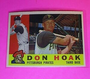 1960-Topps-373-Don-Hoak-Pirates-NmMt-High-Grade-Sharp