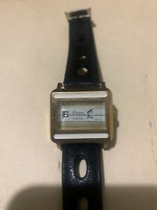 1970s-NOS-Mint-Gold-amp-White-Lausanne-Ladies-Direct-Read-Jump-Hour-Windup-Watch