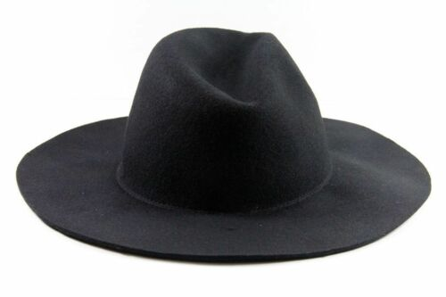 LADIES BLACK FELT STATEMENT INSPIRED PLAIN BOWLER //DERBY HAT HT3