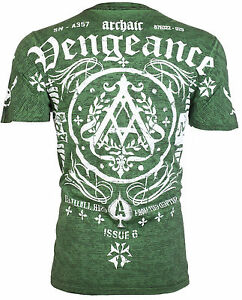 ARCHAIC-by-AFFLICTION-Mens-T-Shirt-PEOPLE-Biker-Gym-MMA-American-Fighter-40