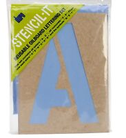 Duro NOM134313 Stencil-It Reusable Lettering Set 10 Craft Supplies