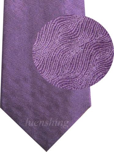 NEW Men/'s 100/% Silk Neck Tie Only pattern formal wedding party Purple 01