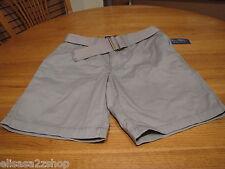 American Rag 34 slim men's walk shorts with belt casual griffin grey 124306GRF
