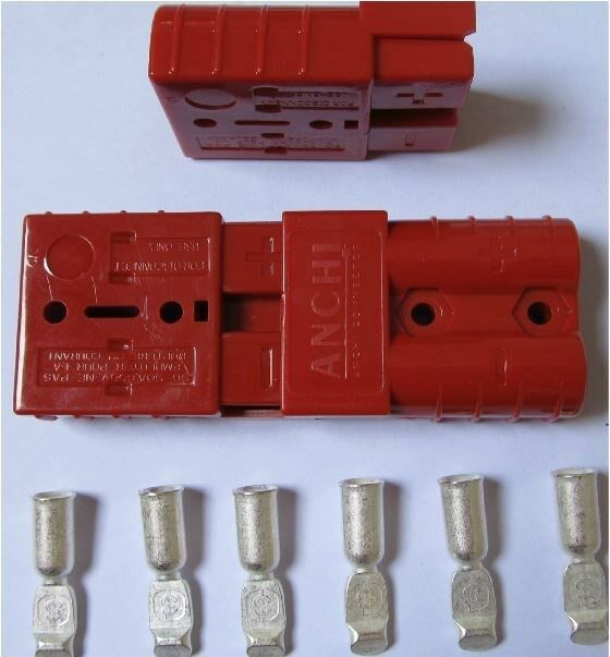 10PC Battery Quick Connector 50A 8AWG Plug Connect Disconnect Winch Trailer red