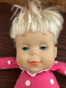 1964 DROWSY DOLL-PINK POLKA DOT DRESSED W/HAIR BOW by MATTEL No Working