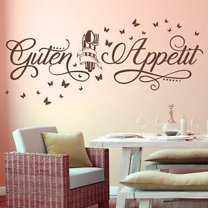 Details zu Wandtattoo Guten Appetit mit Schmetterlingen | Küche Esszimmer  Essen Wandsticker