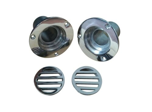 4PCS newly 1-1//2 Inch Boat Deck Drain Yatch Marine Stainless Steel  Height 50mm