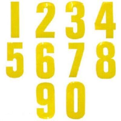 """Self Adhesive Weatherproof Vinyl Wheelie Bin Numbers Stickers  4/"""" white numbers"""