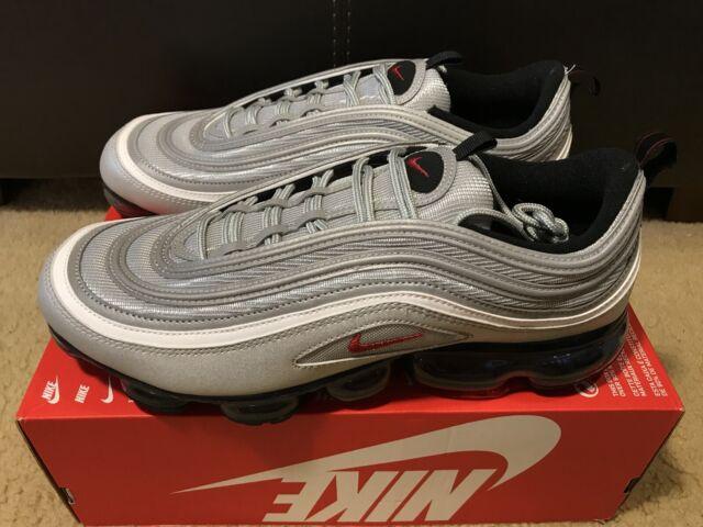 6d8f1a1954 Nike Vapormax '97 Silver Bullet Metallic Silver/varsity Red Aj7291 002 Size  13