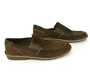 Clarks-Mens-Comfort-Loafers-30533-Brown-Suede-Slip-On-Loafer-Size-10-5-M