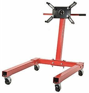 JEGS-80041-Red-Engine-Stand-1250-lbs-Capacity-360-Degree-Head-Motor-Stand