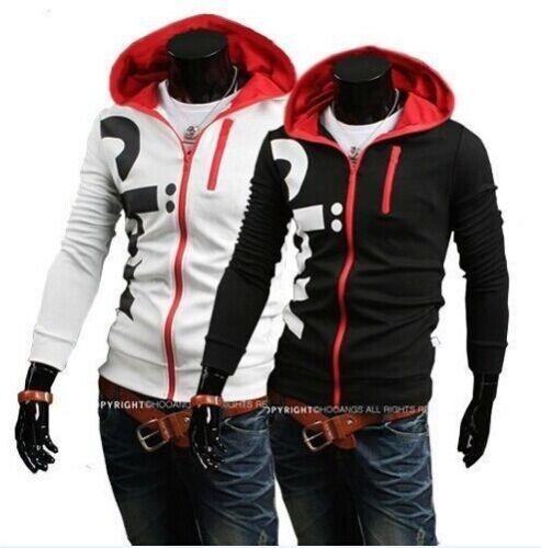 Men Casual Zip Up Hoodie Hooded Jacket Sweatshirt Sport Coat Outwear Tops