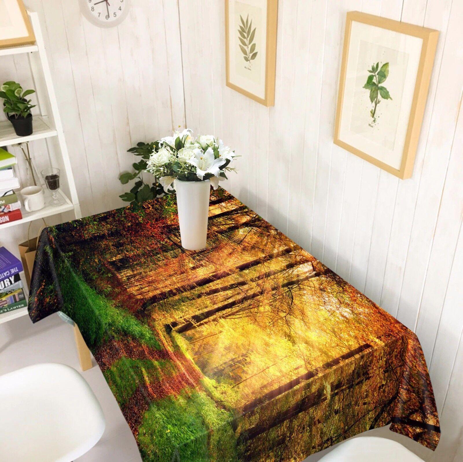 3D Sun 4809 Tablecloth Table Cover Cloth Birthday Party Event AJ WALLPAPER AU