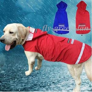 Cool-Large-Dog-Raincoat-Hoodie-Jacket-Pet-Waterproof-Reflective-Safety-Rain-Coat