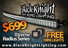 """Black Knight Lighting 50"""" Straight or Curve CREE LED Light Bar+Free Pair of Pods"""