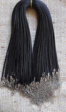 Cordón negro de cuero de imitación Collares X 10, 2mm de espesor, 17 pulgadas de largo 2 en cadena