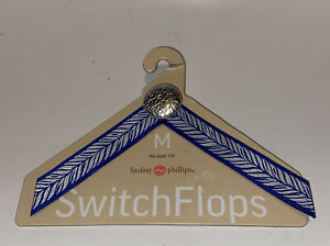 Lindsay-Phillips-Switch-Flops-Straps-Heather-Size-M-7-8