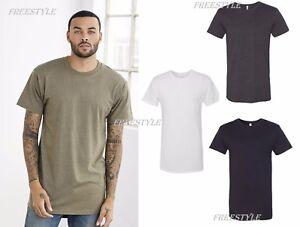 New-Bella-Canvas-Long-Body-Drop-Tail-Back-Mens-T-shirt-Cotton-Sport-Tee-3006