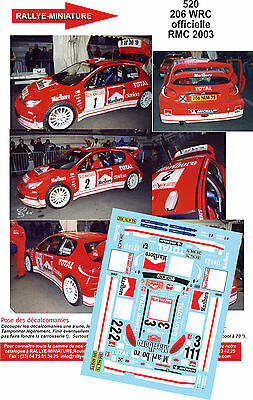 DECALS 1//18 REF 314 TOYOTA COROLLA WRC SEBASTIEN LOEB RALLY SAN REMO ITALIA 2000