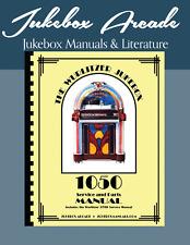 Wurlitzer Model 1050 Jukebox Complete Manual & Parts List, 3700 Manual Included!