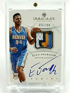 2012-13-Panini-Immaculate-EVAN-FOURNIER-Rookie-RPA-100-Nuggets-4CL-Auto-RC