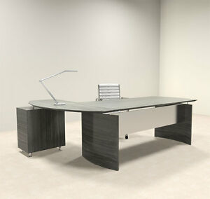 Image Is Loading 2pc Modern Contemporary L Shaped Executive Office Desk