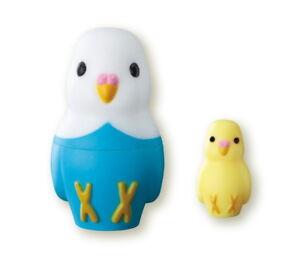 Z90 Epoch Capsule Animal Parakeet Inkomato Mini Matryoshka Doll 中Yellow&小Yellow