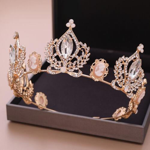 New Luxury Baroque Crystal Crowns Wedding Hair Ornaments Headbands Bride Tiaras