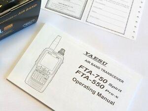b91994973f2 OEM original USER MANUAL for Yaesu FTA-750L 550L Air-Band ...