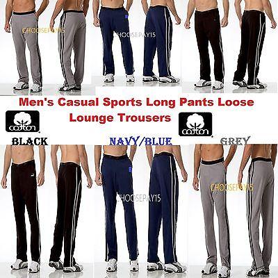 Men's Casual Sports Long Pants Loose Lounge Jogging Dance Yoga Pyjama Trousers Schrumpffrei